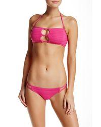 Volcom | Pink Be Mayan Tiny Bikini Bottom | Lyst