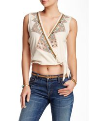 Free People - Blue Around The World Tank - Lyst
