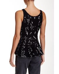 Free People - Black Side By Side Flared Tank - Lyst