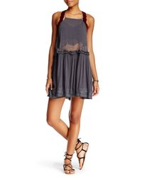 Free People | Gray Two For Tea Slip Dress | Lyst