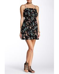 Free People - Black Jolene Mini Slip Dress - Lyst