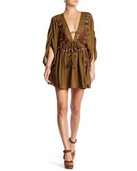 Free People | Brown Pretty Pineapple Dress | Lyst