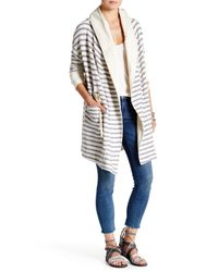 Free People - White Long Island Cardigan - Lyst