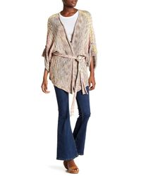 Free People | Natural Sand Art Knit Cardigan | Lyst