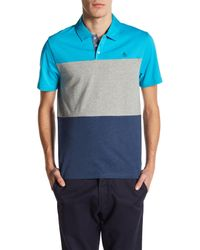 Original Penguin | Blue Short Sleeve Heathered Colorblock Shirt for Men | Lyst