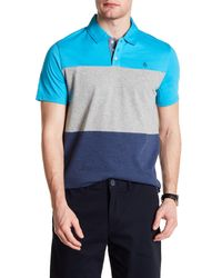 Original Penguin | Blue Short Sleeve Heathered Tri Color Polo for Men | Lyst