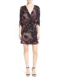 Parker | Black Double Flared-sleeve Dress | Lyst