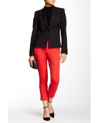 NYDJ | Red Two-way Stretch Ankle Straight Leg Pant (petite) | Lyst