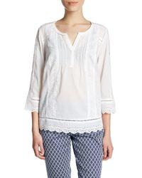 NYDJ | White Lace Blouse (petite) | Lyst