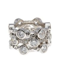Freida Rothman | Metallic Starry Night Cz Rings - Set Of 3 - Size 9 | Lyst