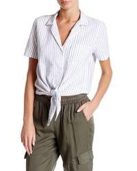 Equipment | White Keira Tie Front Shirt | Lyst