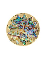 House of Harlow 1960 - Metallic Starburst Abalone Cocktail Ring - Size 7 - Lyst