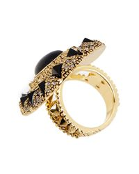 House of Harlow 1960 | Black Wari Ruins Cocktail Ring - Size 7 | Lyst