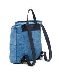 10 Crosby Derek Lam - Blue Mercer Embossed Leather Backpack - Lyst