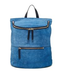 10 Crosby Derek Lam - Blue Mercer Embossed Leather Backpack - Lyst