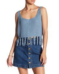 Raga - Blue Mary Jane Cropped Sweater Tank - Lyst