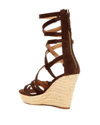 Joe's Jeans - Brown Temple Gladiator Espadrille Wedge Sandal - Lyst