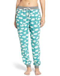 Kensie | Blue Jogger Pajama Pants | Lyst