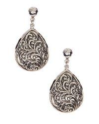 Lois Hill - Metallic Sterling Silver Repousse Teardrop Earrings - Lyst