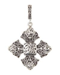 Lois Hill | Multicolor Sterling Silver Granulated Maltese Cross Pendant | Lyst