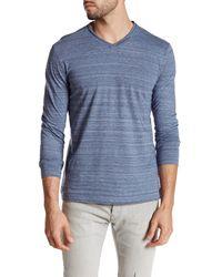 Robert Barakett | Blue Montgomery Long Sleeve V-neck Shirt for Men | Lyst