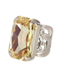 Sorrelli | Metallic Bring On The Glamour Crystal Cocktail Ring | Lyst