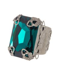 Sorrelli - Multicolor Large Emerald Cut Swarovski Crystal Accented Ring - Lyst