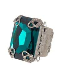 Sorrelli | Multicolor Large Emerald Cut Swarovski Crystal Accented Ring | Lyst