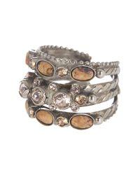 Sorrelli | Metallic Braided Stack Ring | Lyst
