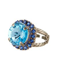 Sorrelli   Blue Cushion-cut Swarovski Crystal Ring   Lyst