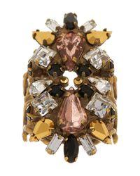 Sorrelli | Black Swarovski Crystal Ring | Lyst