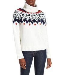 Veronica Beard | Natural Sun Valley Fairisle Turtleneck Sweater | Lyst