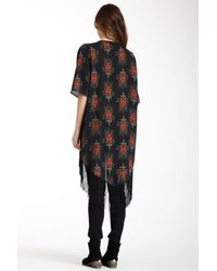 Romeo and Juliet Couture - Black Kimono Wrap - Lyst