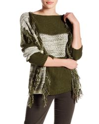 Romeo and Juliet Couture | Green Fringe Sweater | Lyst