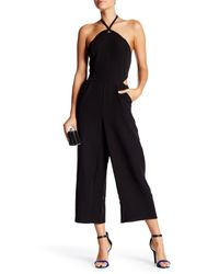 Romeo and Juliet Couture Black Peek-a-boo Halter Jumpsuit