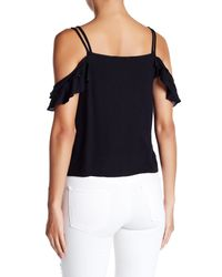 Romeo and Juliet Couture - Blue Ruffled Crepe Cami Blouse - Lyst