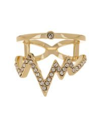Ariella Collection | Metallic Heartline Ring | Lyst