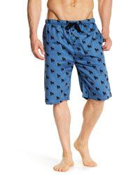 Pj Salvage - Blue Animals Silhouette Pajama Short for Men - Lyst