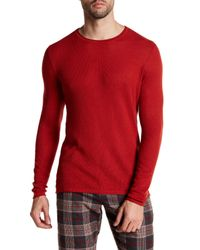 Parke & Ronen | Red Solid Long Sleeve Thermal Shirt for Men | Lyst