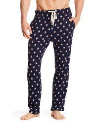 Original Penguin - Blue Mustache Jersey Lounge Pant for Men - Lyst