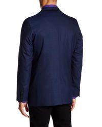 Robert Graham | Blue Front Double Button Woven Blazer Coat for Men | Lyst