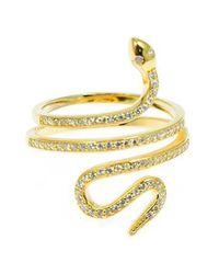 Charlene K - Metallic 14k Gold Vermeil Snake Ring - Lyst