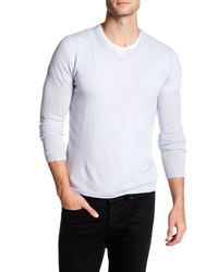 Autumn Cashmere - White Cable Knit Cashmere Sweater for Men - Lyst