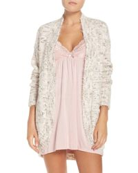 Pj Salvage | Natural Knit Lounge Cardigan | Lyst