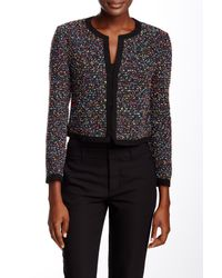 Diane von Furstenberg - Black Emery Boucle Tweed Jacket - Lyst