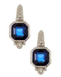 Judith Ripka - White Estate Asscher Blue Sapphire Earrings - Lyst