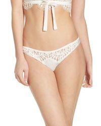 For Love & Lemons - White V-day Panty - Lyst
