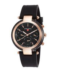 Swiss Legend - Black Women's Madison Diamond Multi-function Watch - Lyst