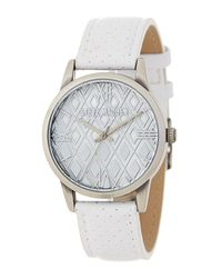 Steve Madden   Metallic Women's Perforated Leather Strap Watch   Lyst