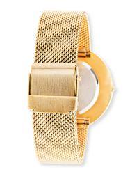 Steve Madden - Metallic Women's Analog Crystal Mesh Bracelet Watch - Lyst